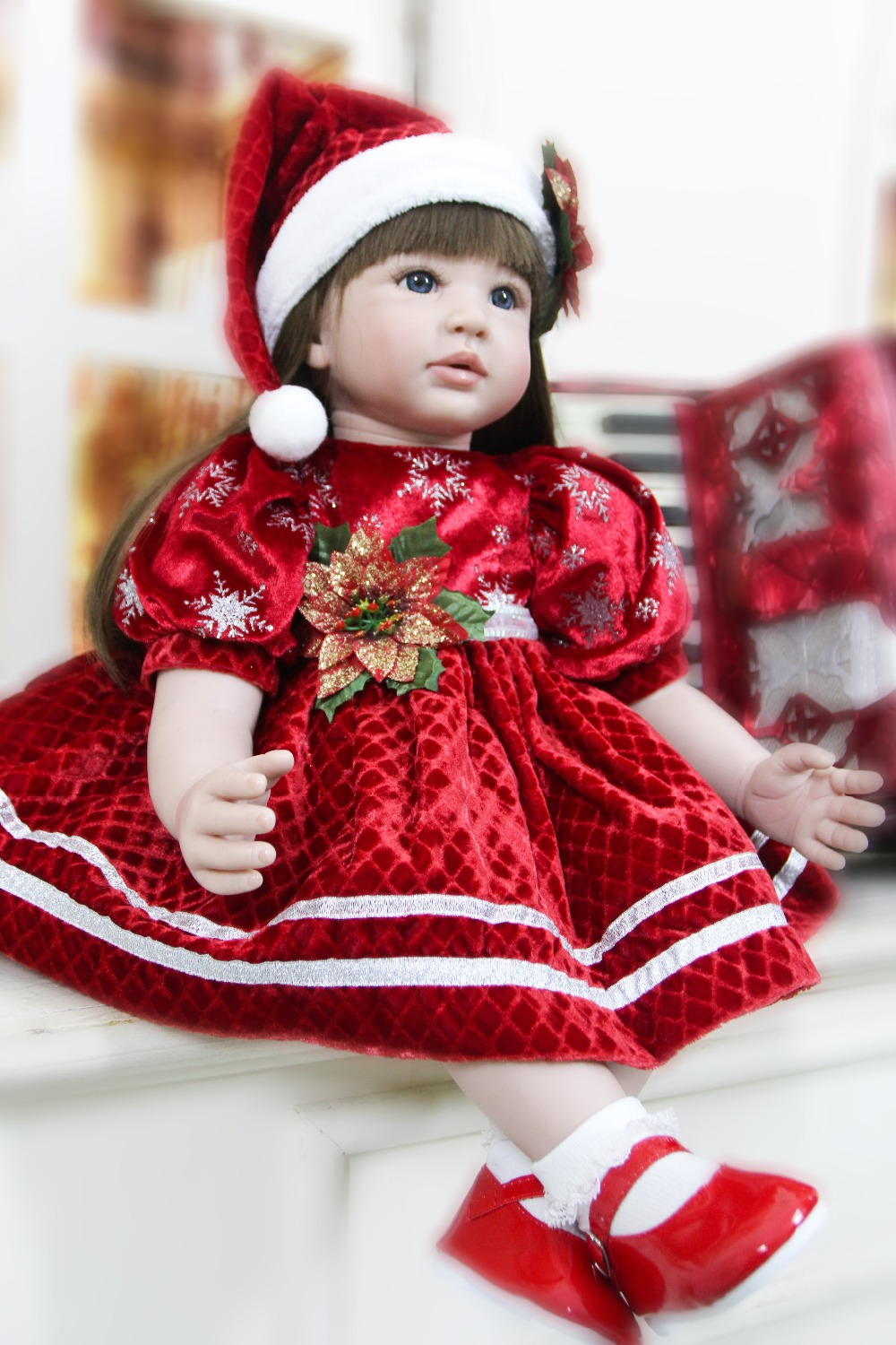 soft cotton Body Silicone Reborn Baby Girl Dolls 58cm Icy Doll Bebes Reborn Children Christmas princess doll Gifts Juguetes G14soft cotton Body Silicone Reborn Baby Girl Dolls 58cm Icy Doll Bebes Reborn Children Christmas princess doll Gifts Juguetes G14