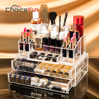 CHOICE FUN Fashion Practical Makeup Container Acrylic Cosmetic Organizer Stationery Organizer Storage Container Box SF 20143