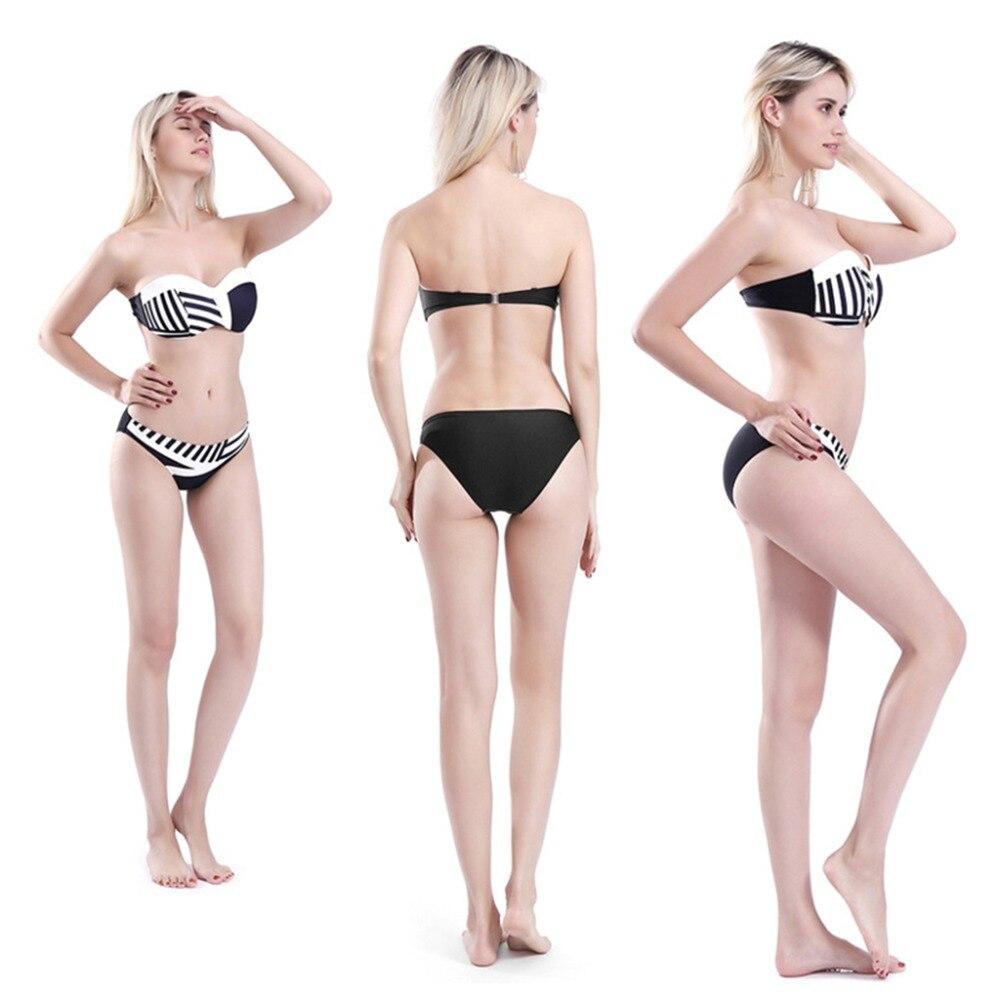 Desmontables Conjunto Traje Baño De Tanga Rayas Irregulares Para Sujetador Correas Bikini Cintura Atractivo Dos Piezas Mujer Espagueti Baja QdsthrC