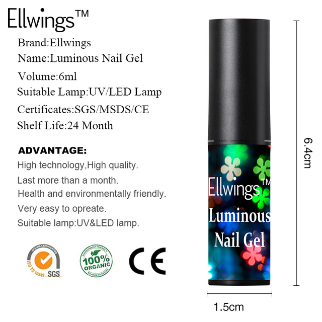 Glowing Night Gel Nail Polish