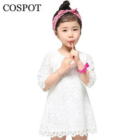 2015 New Fashion Baby Girls Summer Princess Lace Dress Girl Mini Sleeve Party 100 Cotton Dress