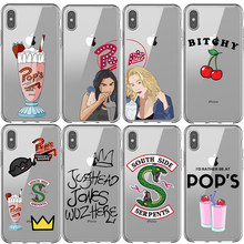 American TV Riverdale Betty and Veronica Friendship Southside Serpents TPU Phone Case for iPhone 5 5s SE 6 6S 7 8 Plus XR XS MAX(China)