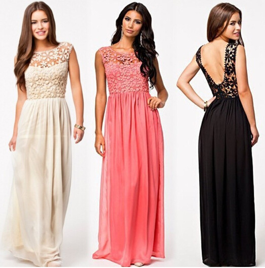 free shipping women summer style lace bodice plunge V back vestido sexy floor length maxi dress for wedding bridesmaids dresses