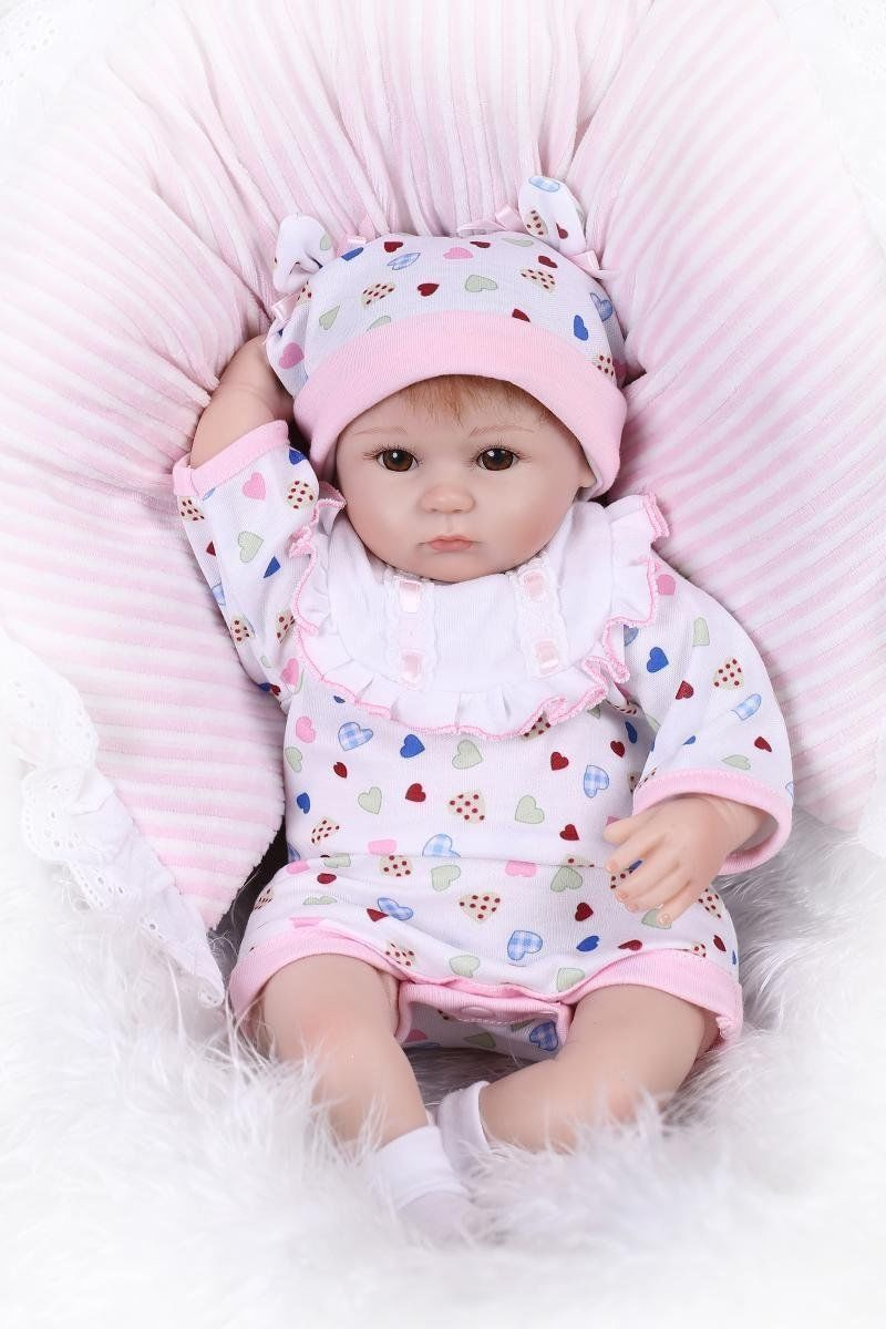 Npkdoll Reborn Baby Doll Soft Silicone 18inch 45cm Magnetic Lovely Lifelike Cute кукла 44271926101 usa berenguer reborn baby doll