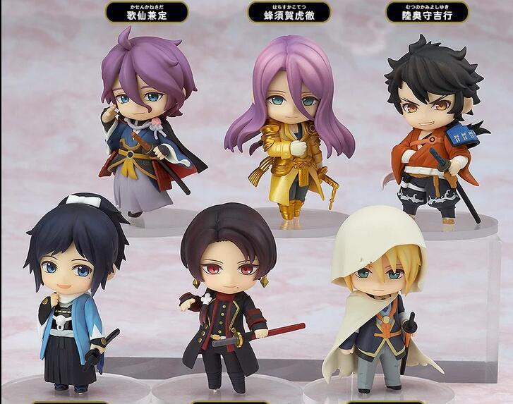 6pcs/lot Anime Game Touken Ranbu Online Action Figure Toys PVC Q version Figures Model Collection toys gifts ...