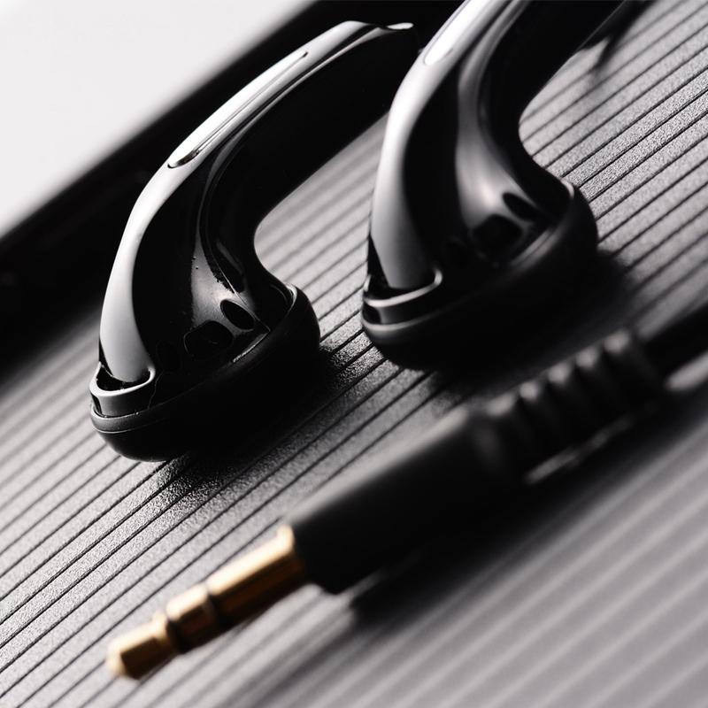 HANGRUI Qian25 Dynamic Flat Head Plug Earphone 3.5mm In ear Headset HIFI Earphone Bass Earbud For iphone xiaomi Smartphone MP3  (2)