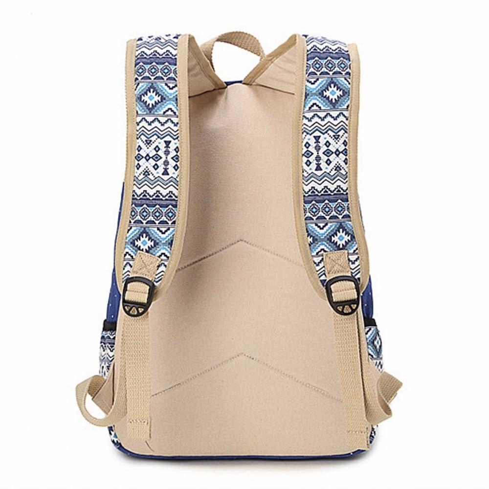 Canvas Printing Women Backpack Travel Casual Rucksack Female Laptop Bagpack  Student Bookbag School Bag for Teenage Girls Mochila-in Backpacks from  Luggage ... 07b0e82c7ec8c