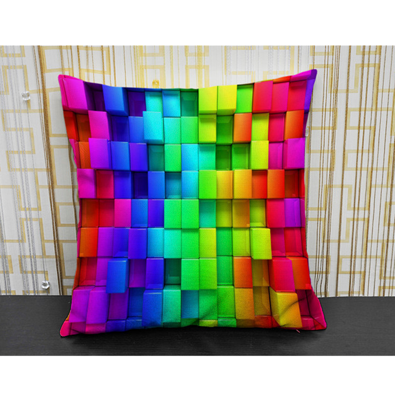 Nordic Feather Vintage Cushion Cover Bohemian Colorful Geometric Sofa Seat Luxury Home Decorative Size 45*45cm Throw Pillow Case