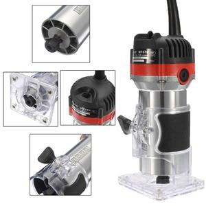 Image 3 - Qualidade 220v 35000rpm 530w 1/4 electric laelétrica mão trimmer laminador de madeira roteador conjunto de ferramentas