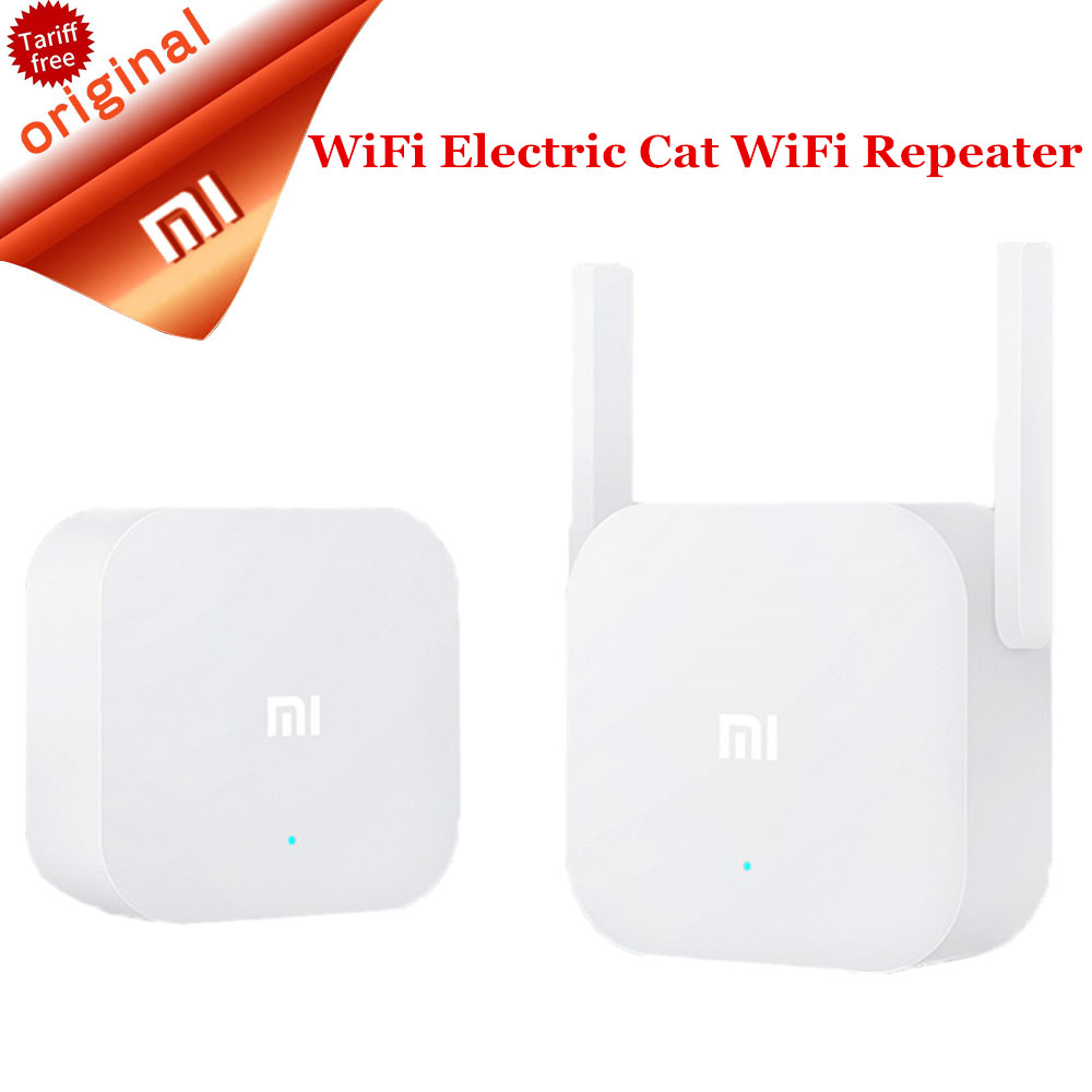 Original Xiaomi Wifi Repeater Electric Power Cat 2.4G Wireless Range Extender Router Access Point 300MPS Signal Amplifier dx original 300mbps wireless n mini router signal amplifier repeater black