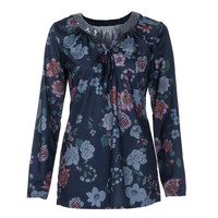 Bohemian style vintage ladies blouses Women Fashion V Neck Shirt Floral Long Sleeve Casual Loose Simple Plus Size Tops blusa