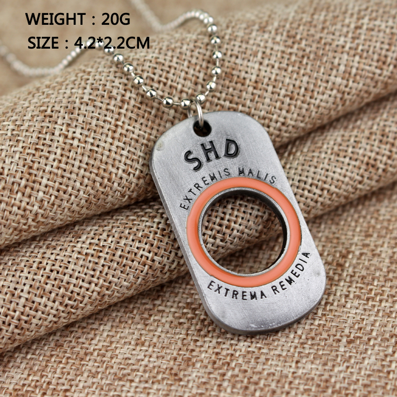 Game PS4 Tom Clancys The Division Letter SHD Necklace women men fashion beads jewelry
