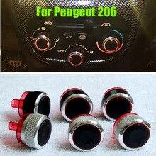 3 шт./лот, подходит для peugeot 206 207 Citroen C2, ручки переключателей, нагреватель, кнопки контроля температуры, циферблаты, тепловая рамка, кольцо A/C Air Con, крышка