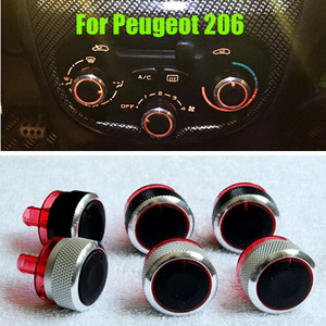 3pc/Lot Fit For Peugeot 206 207 Citroen C2 Switch Knobs Heater Climate Control Buttons Dials Heat Frame Ring A/C Air Con Cover(China)