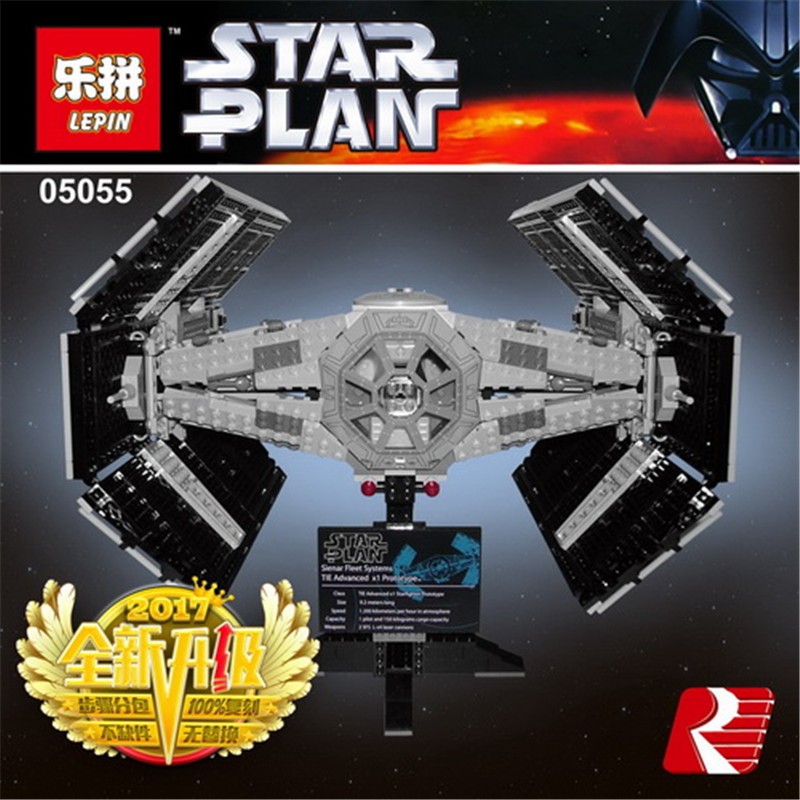 Lepin 05055 The Rogue Set One USC Model Tie Star Series War Toys Advanced Fighter Set 10175 Building Blocks Bricks boy Gifts lepin 05060 the rogue one usc naboo style fighter set 10026 star series wars 187pcs building blocks bricks educational toys