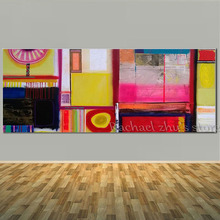 Large Handpainted Modern Abstract Color Blocks Oil Paintings On Canvas Art Wall Picture For Home Decoration Decor