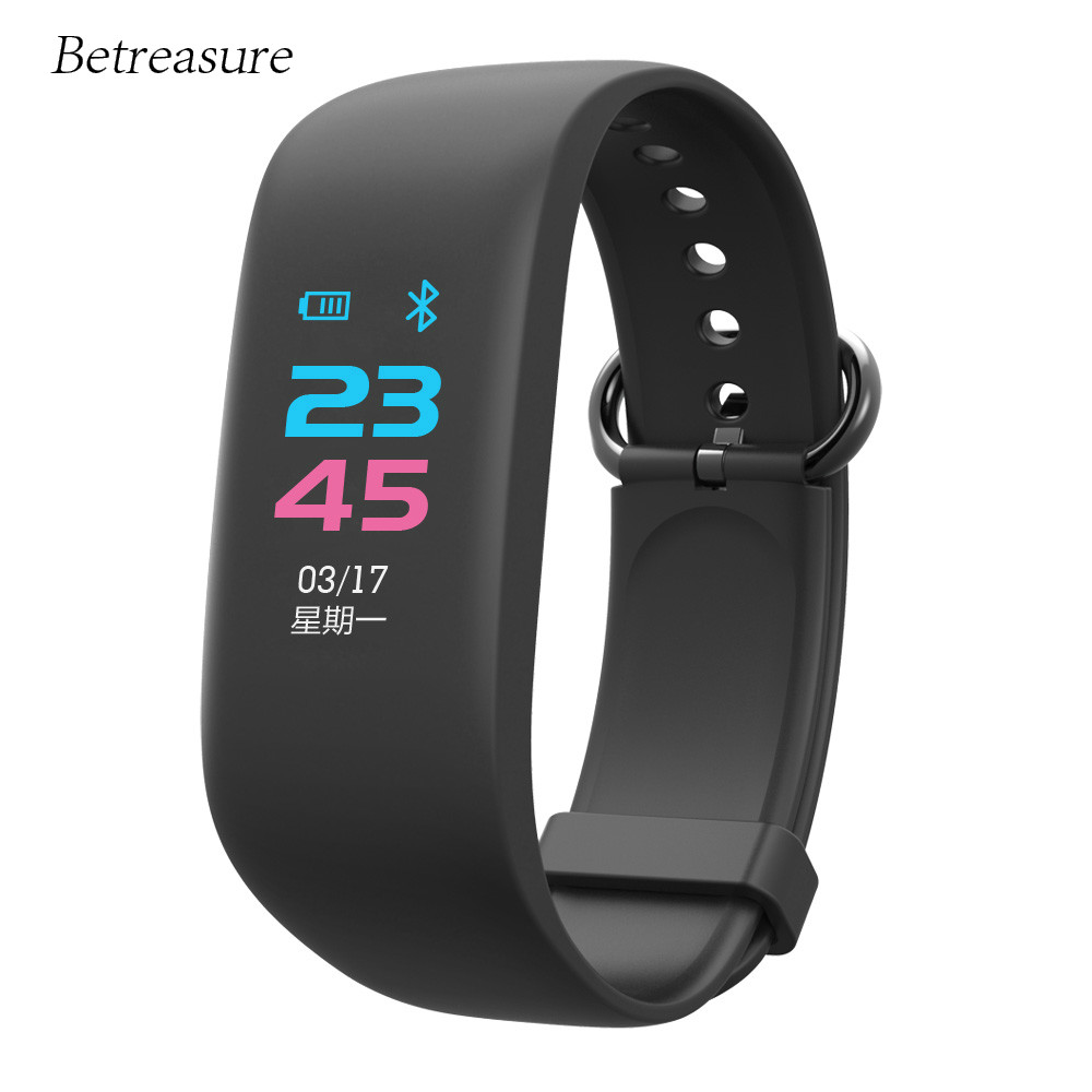 Betreasure New BW06 Smart Wristband Bluetooth Heart Rate Monitor Sport Smart Band GPS SOS Help Fitness Bracelet Smart Wear