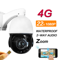 Full HD 1080P Speed dome IP Camera Wireless GSM 3G 4G SIM Card PTZ Zoom Outdoor Waterproof cctv Camera IR 80m Night Vision Audio
