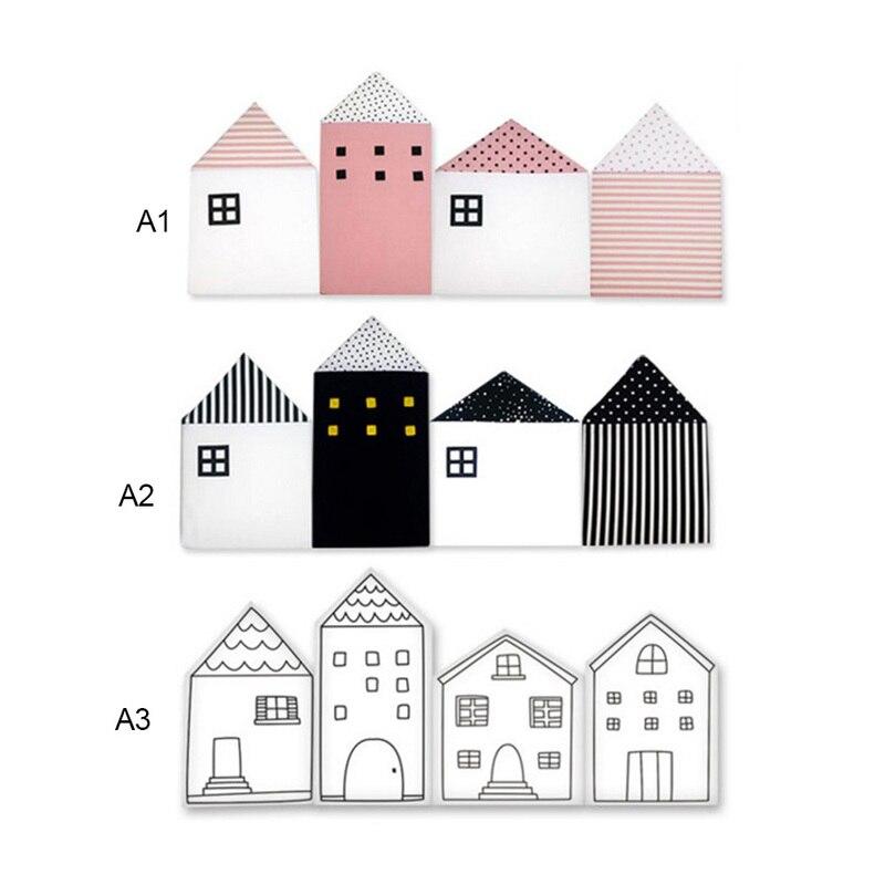 Oreillers bébé chambre bébé berceau pare-chocs pour les nouveau-nés nordique INS petite maison lit coussin protecteur infantile lit autour de la décoration pour les enfants