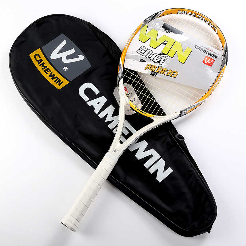 CAMEWIN RAPID Graphite/Carbon Fiber Tennis Racket  Grip Size L3(4 3/8) Strung Weight about 300g+/-5g  With Cover Bag Over Grip