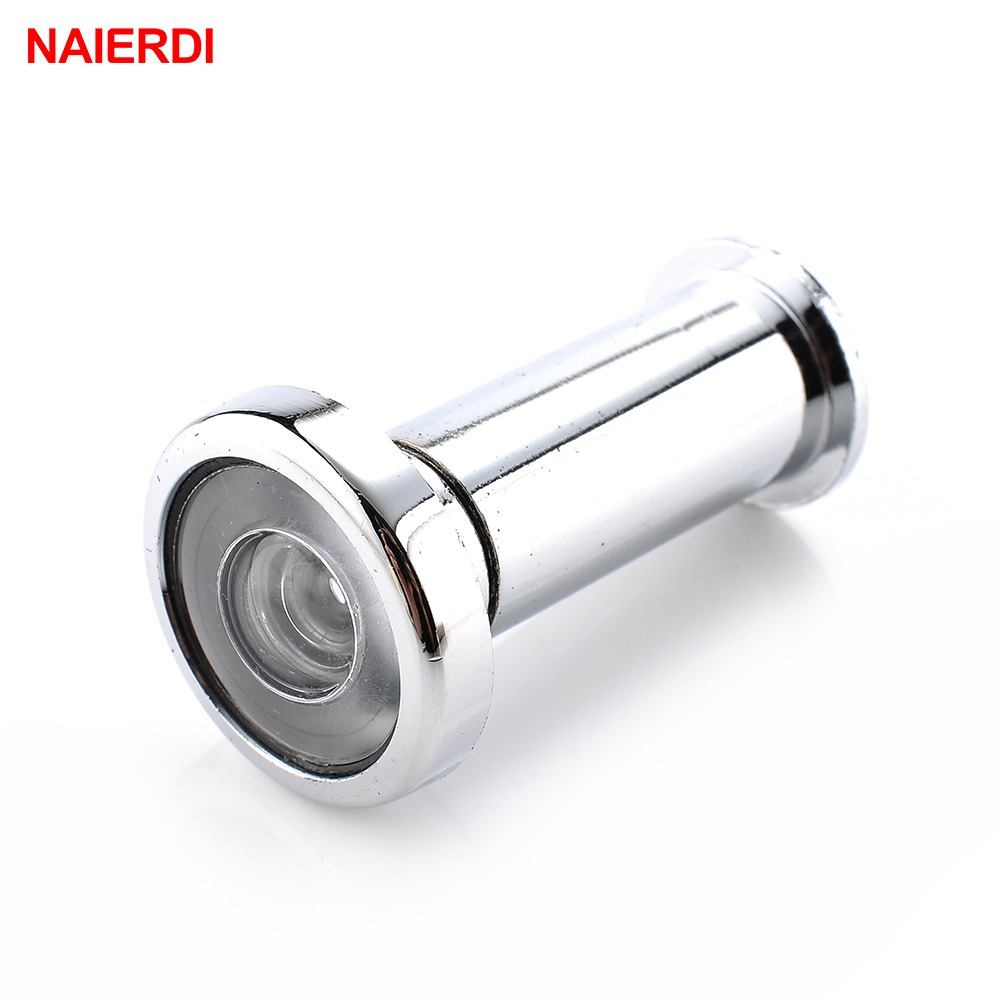 NAIERDI Door Viewer 180 Degree Wide Angle Peephole Security Hidden Door Adjustable Glass Lens For Furniture Hardware ToolsNAIERDI Door Viewer 180 Degree Wide Angle Peephole Security Hidden Door Adjustable Glass Lens For Furniture Hardware Tools