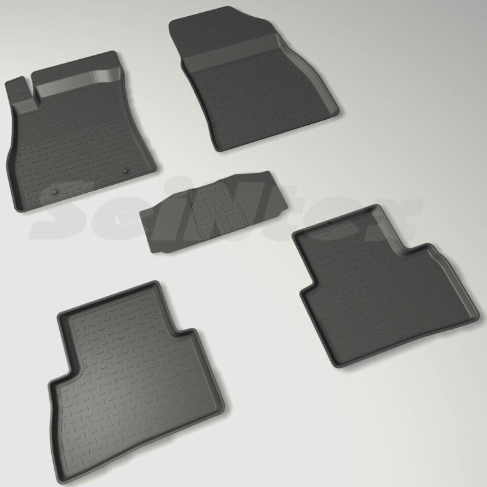 цена For Nissan Juke 2010-2014 rubber floor mats into saloon 5 pcs/set Seintex 82453 в интернет-магазинах