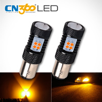 OGA 2PCS High Power SMD3030 Amber Yellow 1157 BAY15D P21 5W Auto LED Lamp DC 12V
