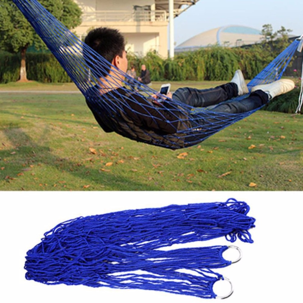 New Portable Durable Reticular Hammock with Rope Garden Outdoor Furniture Mesh Hammock Swing Nylon Hang NetNew Portable Durable Reticular Hammock with Rope Garden Outdoor Furniture Mesh Hammock Swing Nylon Hang Net