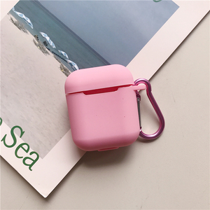 Image 5 - Liquid silicone Case For Airpods Shockproof Earphone Protective Cover Waterproof cute Headset Accessories with keychain