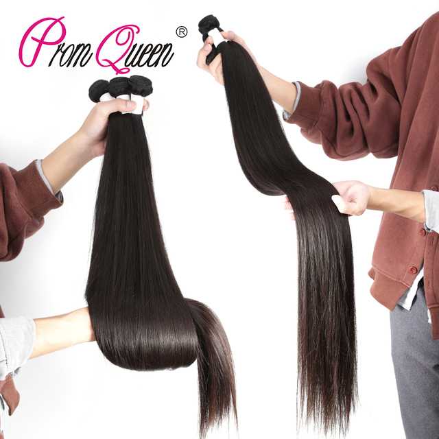 30 Inch 32 34 36 38 Inch 40 Inch Bundles Straight Peruvian Virgin Hair Weave Human Hair Bundles Long Raw Virgin Hair Extensions
