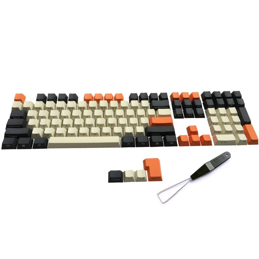 PBT Carbon Keycaps Side Print ANSI ISO Cherry MX Keycap Set For 60%/TKL 87/104/108 MX Mechanical Keyboard Fit Anne Akko X Ducky