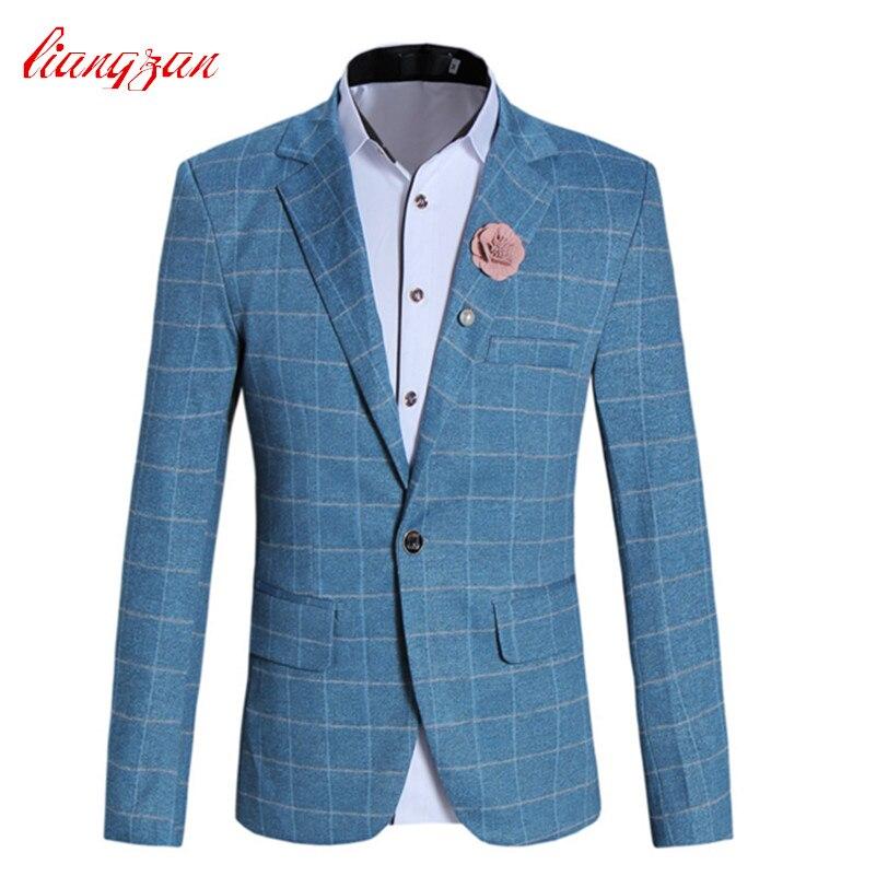 Men Casual Blazer Suit High Quality Slim Fit Wedding Suits Jacket Brand Plus Size M 5XL