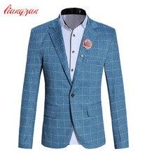 Männer Casual Blazer Anzug Hochwertigen Slim Fit Hochzeit Anzüge jacke Marke Plus Größe M-5XL Baumwolle Business Kleid Blazer F2297