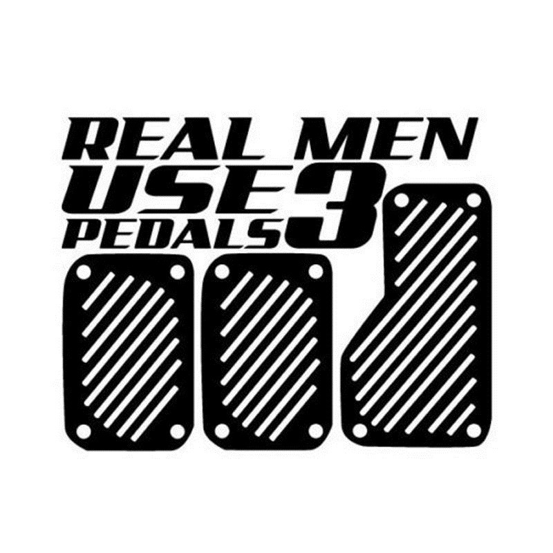 Rylybons The 2nd Half Price 3D stickers REAL MEN UES 3 PEDALS Car Styling Sticker Funny  ...