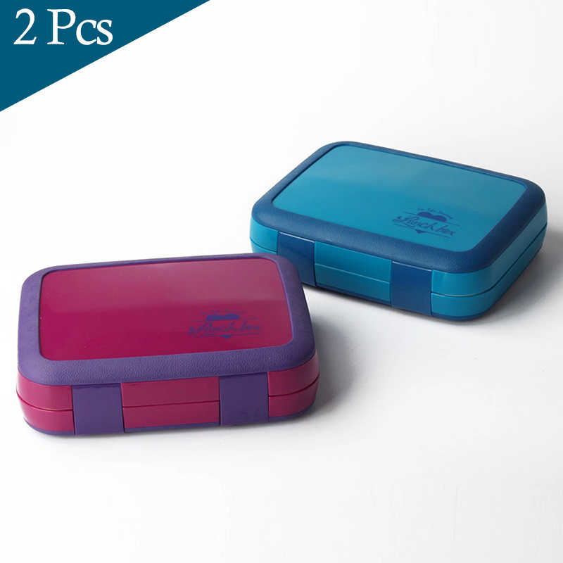 2 or 1 Bento Box For Kids Leakproof Lunch Box Microwavable Food Containers Large Storage Box Preservation With Compartments