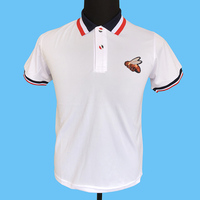 Seestern brand new men polo shirts applique embroidered bee badge summer fashion trend tops knitted coloring collar Polo sirts