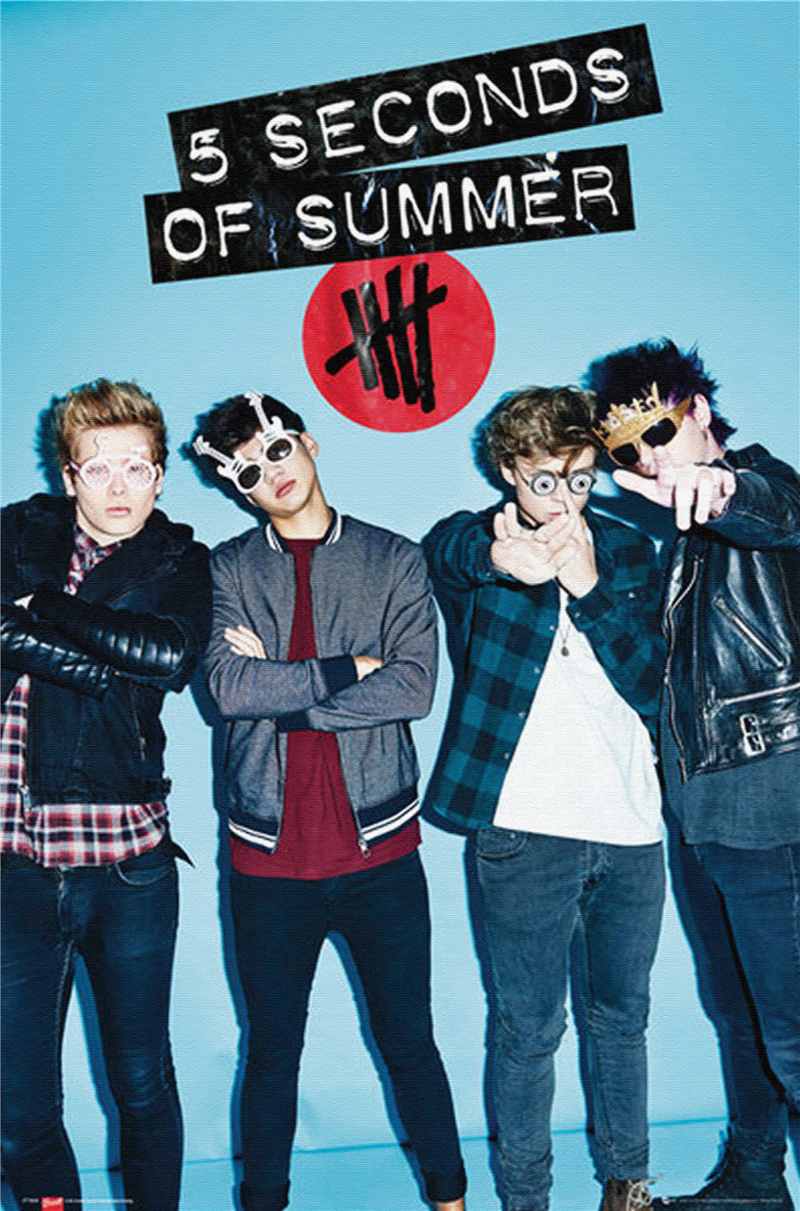 5sos poster design - Free Shipping 5 Seconds Of Summer Sunglasses Custom Poster Nice Home Decoration Fashion Wall Sticker Well