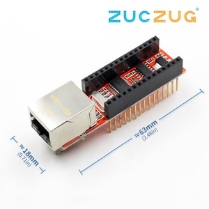 Nano V3 Ethernet Shield ENC28J60 Microchip HR911105A Ethernet Webserver Board Module for Arduino Nano 3.0(China)