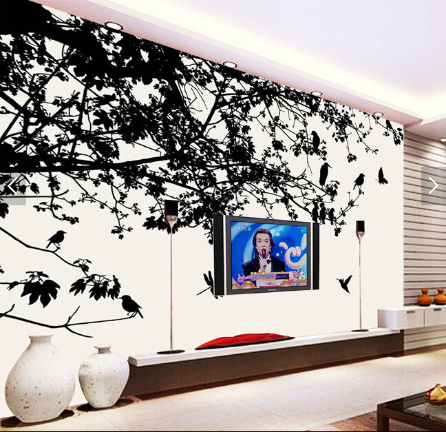 Custom papel DE parede infantil, forest bird murals for the living room bedroom TV background wall vinyl papel de parede стикеры для стен 2015 papel de parede infantil shb127