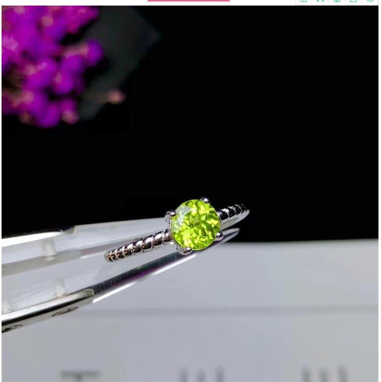 Natural Peridot ring Free shipping Natural real peridot 925 sterling silver Fine jewelry 6mm gemstone Handworked rings цена