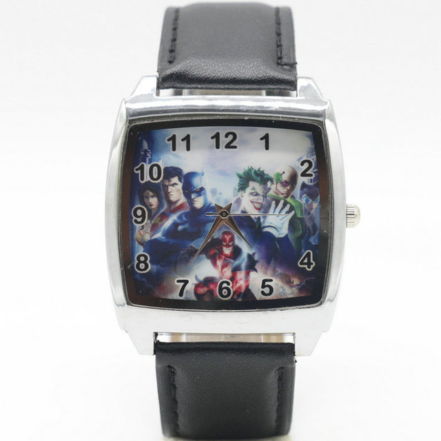 Free Shipping children pretty cartoon batman Joker lovely watch Best fashion cas