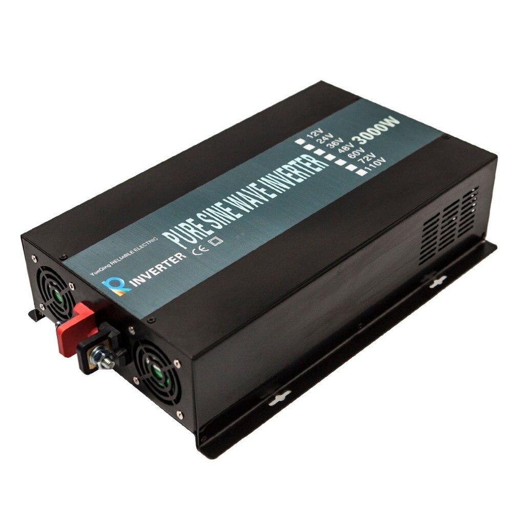 Pure Sine Wave Solar Inverter 3000W 24V DC to 220V AC Power Inverter ...
