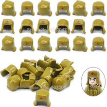 World War 2 Helmet Building Blocks Military Snow Cap Army Soldier Figures Equipment Moc Diy Scenes Accessories Blocks YouZhengle(China)