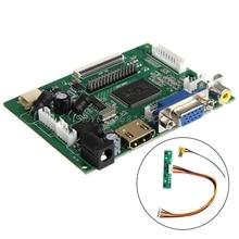 HDMI VGA 2AV Controladora Ди Доска LVDS 50 PIN TTL Монитор PI ЖК AT070TN90/92/94-R179 Падение доставка