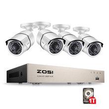 ZOSI kit de videovigilancia para el hogar, 8CH H.264 NVR 1080P IP red POE, grabación de vídeo IR, Sistema de cámaras de seguridad CCTV al aire libre