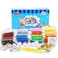 24 цветов DIY мягкие цвета моделирование глины с инструментом Air - сушеные хорошее пакет Playdough игра тесто специальный подарок игрушки для детей