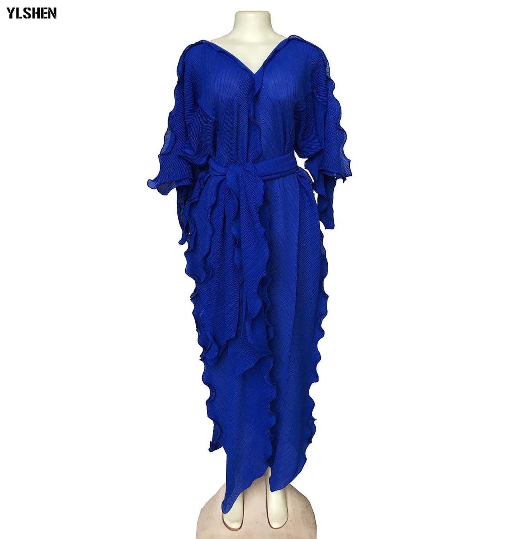 Plus Size Long African dresses for women Dashiki fashion falbala loose skirt high quality Cloth boubou africain dress clothing(China)