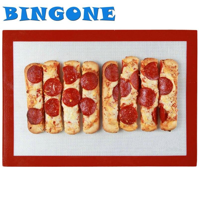 BINGONE 1x M 30 * 40cm nepřilnavá potravinářská silikonová pekárenská pečiva Matrace Macarons Pad Varná podložka Trouba na pečení Kuchyňské nářadí -TF