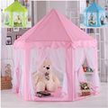 Novas atualizações de Seis Ângulo Coreano Princesa Castelo Tenda Gaze Casa Menina Crianças Casa Grande Jogo Brinquedo Interior Mosquito melhor presente