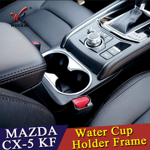 Image 3 - WENKAI For Mazda CX 5 CX5 2017 2018 ABS Water Cup Holder Frame Decoration Cover Trim 1pcs Car Accessories Styling!